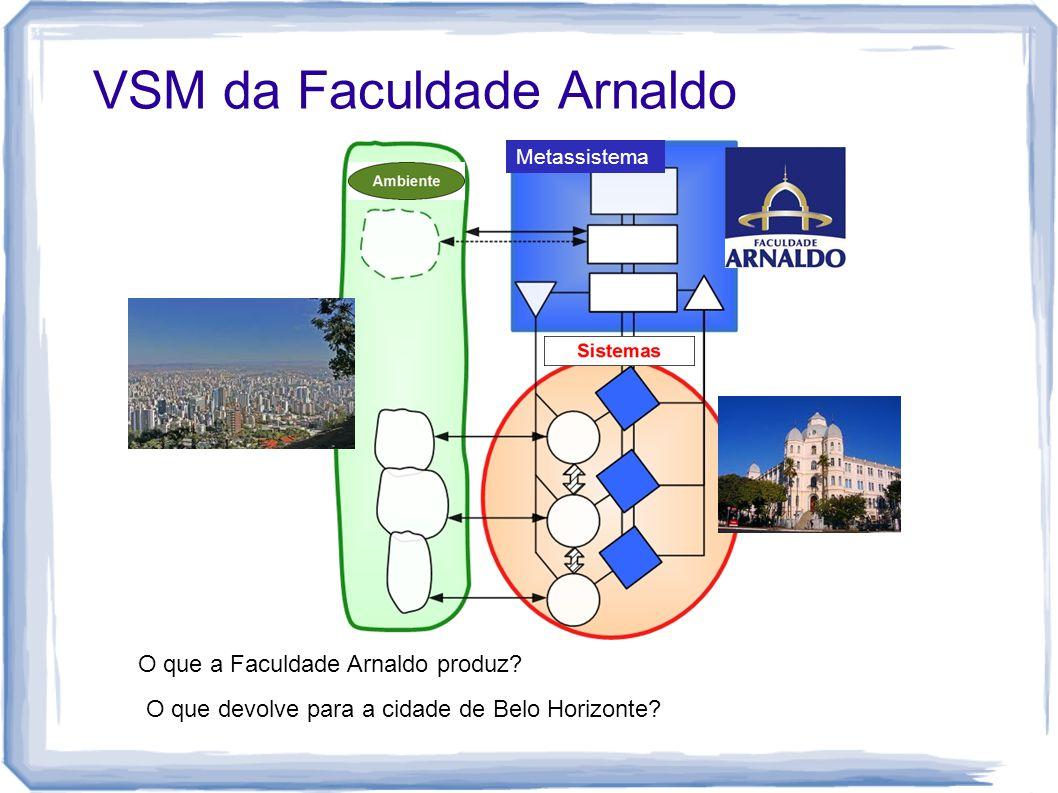 VSM da Faculdade Arnaldo Metassistema O que a Faculdade Arnaldo produz? O que devolve para a cidade de Belo Horizonte?