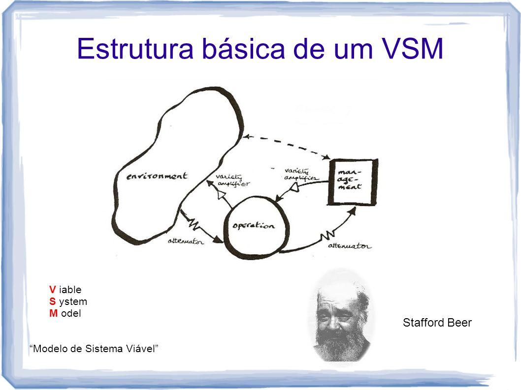 "Estrutura básica de um VSM V iable S ystem M odel ""Modelo de Sistema Viável"" Stafford Beer"