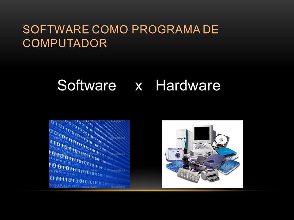 SOFTWARE COMO PROGRAMA DE COMPUTADOR Software x Hardware