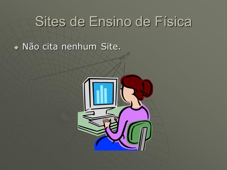 Sites de Ensino de Física  Não cita nenhum Site.