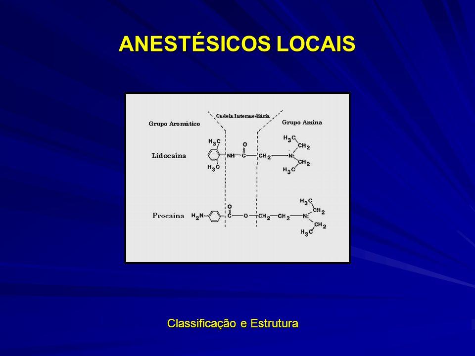 ANESTÉSICOS LOCAIS Classificação e Estrutura Classificação e Estrutura