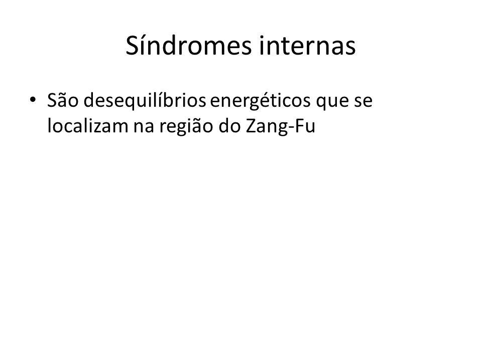 Síndromes internas São desequilíbrios energéticos que se localizam na região do Zang-Fu