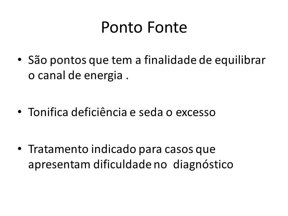 Ponto Fonte São pontos que tem a finalidade de equilibrar o canal de energia.