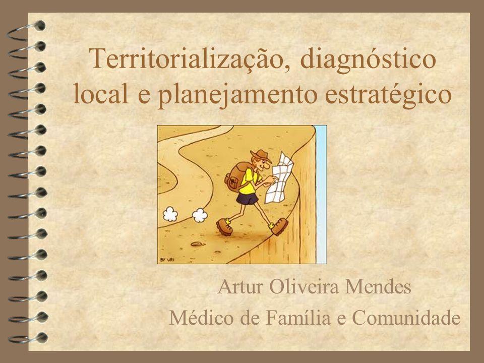 Territorialização, diagnóstico local e planejamento estratégico Artur Oliveira Mendes Médico de Família e Comunidade