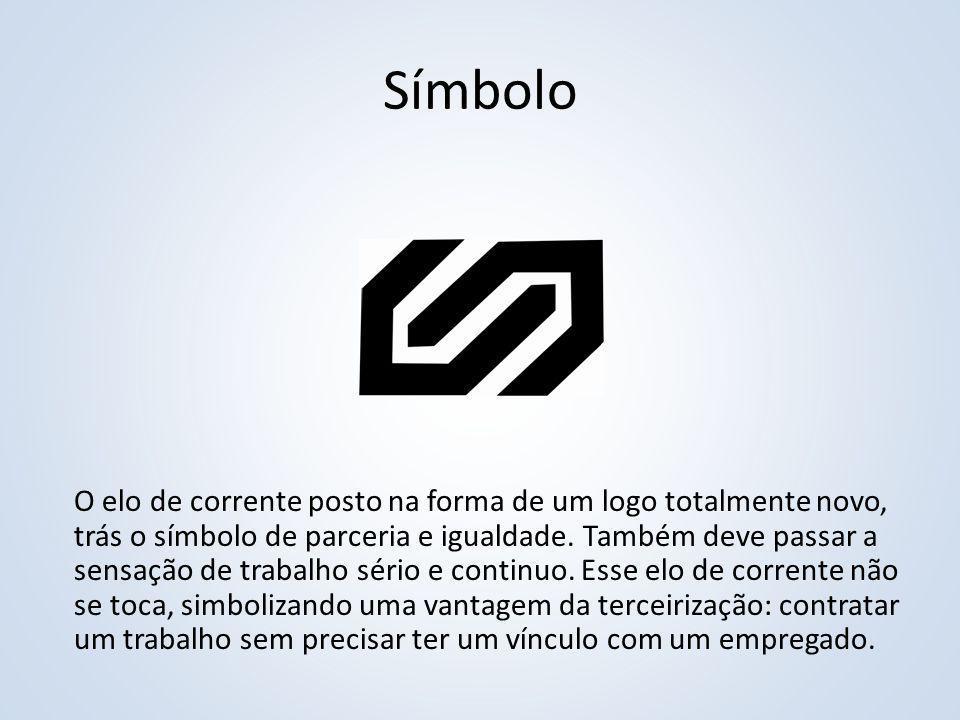 Símbolo O elo de corrente posto na forma de um logo totalmente novo, trás o símbolo de parceria e igualdade. Também deve passar a sensação de trabalho