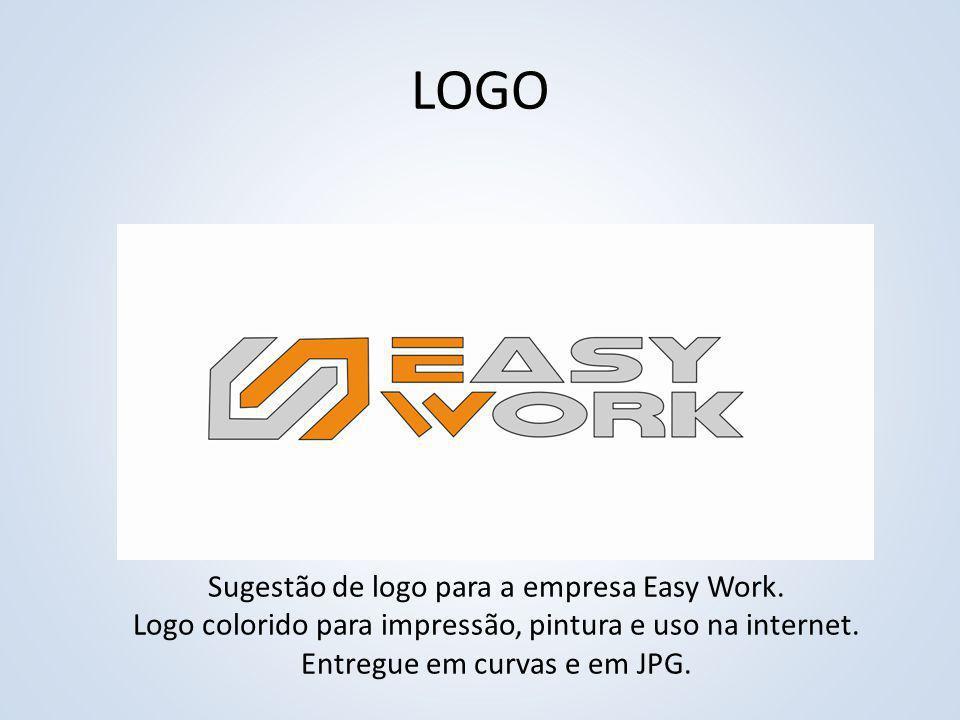LOGO Sugestão de logo para a empresa Easy Work. Logo colorido para impressão, pintura e uso na internet. Entregue em curvas e em JPG.
