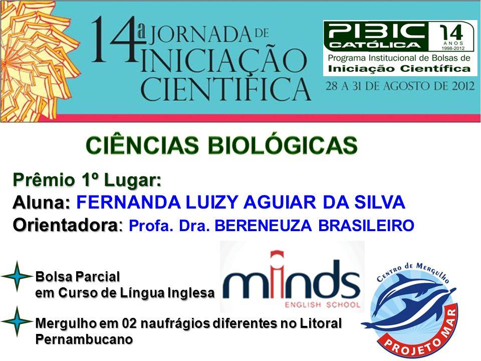 Prêmio 3º Lugar: Aluna: Aluna: ANA GABRIELA LEAL DE MIRANDA VIEIRA Orientador: Orientador: Prof.