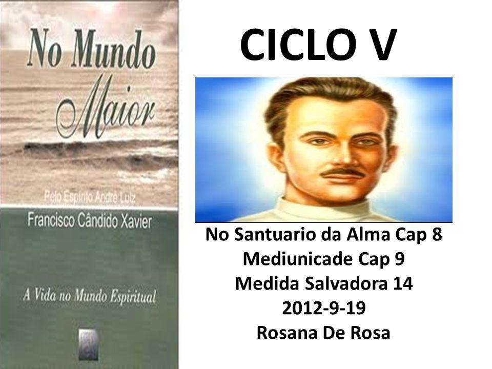 CICLO V No Santuario da Alma Cap 8 Mediunicade Cap 9 Medida Salvadora 14 2012-9-19 Rosana De Rosa