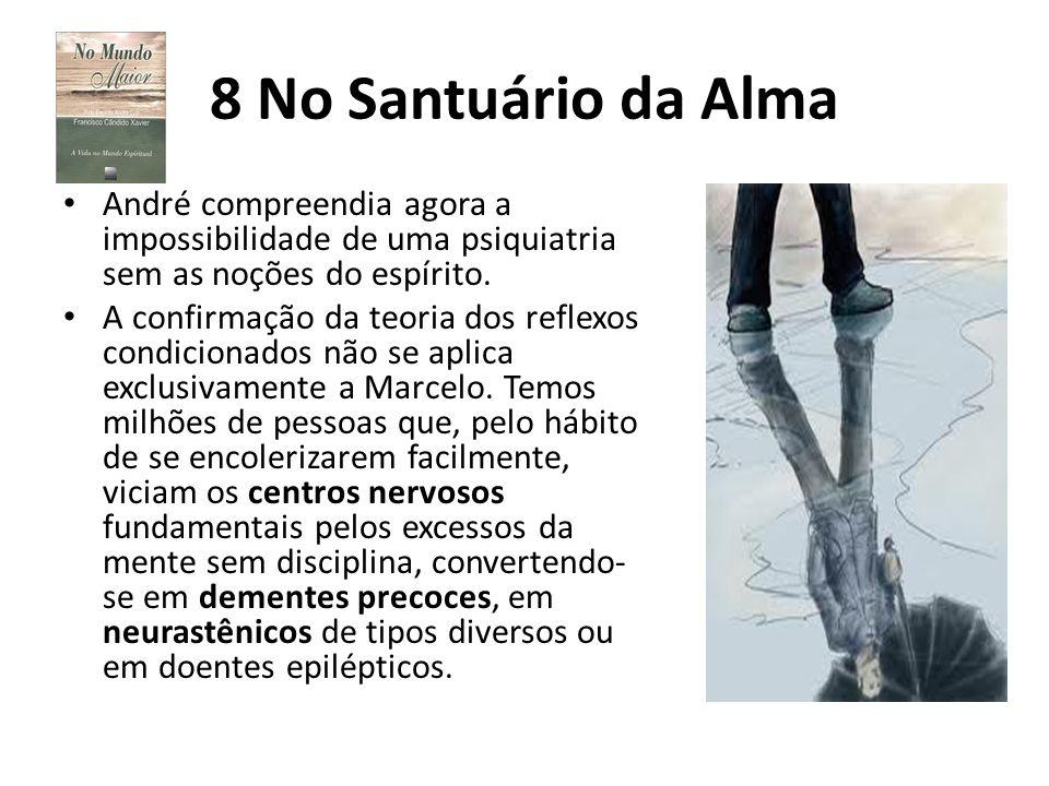 8 No Santuário da Alma André compreendia agora a impossibilidade de uma psiquiatria sem as noções do espírito. A confirmação da teoria dos reflexos co