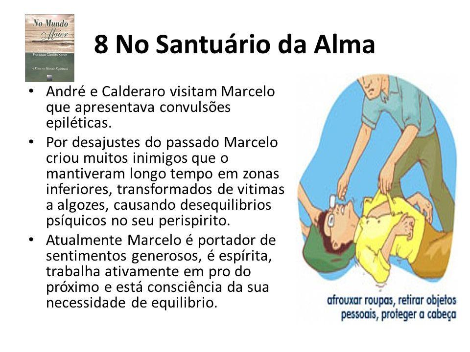 8 No Santuário da Alma André e Calderaro visitam Marcelo que apresentava convulsões epiléticas. Por desajustes do passado Marcelo criou muitos inimigo
