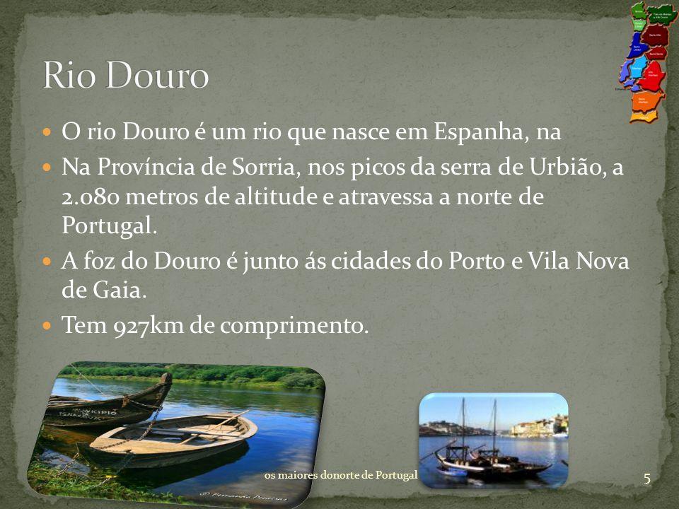 O rio Douro é um rio que nasce em Espanha, na Na Província de Sorria, nos picos da serra de Urbião, a 2.080 metros de altitude e atravessa a norte de Portugal.