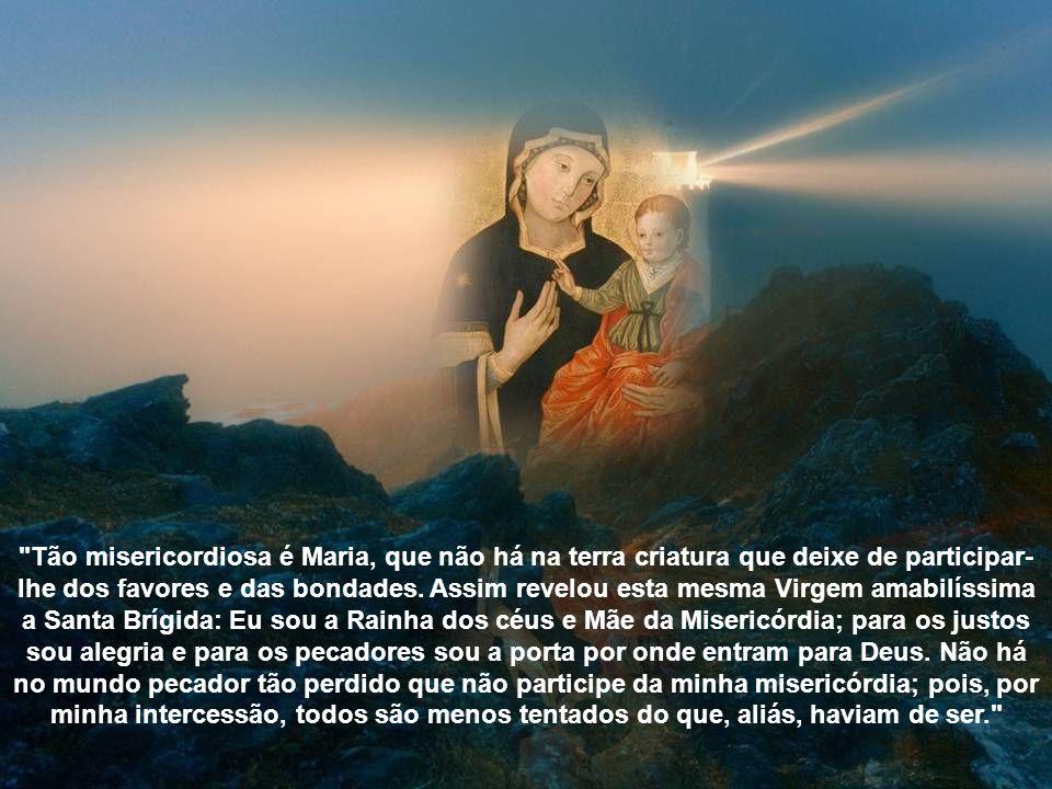 Por assim ser, vamos postar alguns trechos para que você possa refletir sobre as glórias de Maria e não deixe de reconhecer como é grande o seu amor e sua misericórdia por nós.