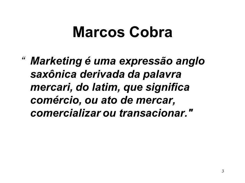 3 Marcos Cobra Marketing é uma expressão anglo saxônica derivada da palavra mercari, do latim, que significa comércio, ou ato de mercar, comercializar ou transacionar.