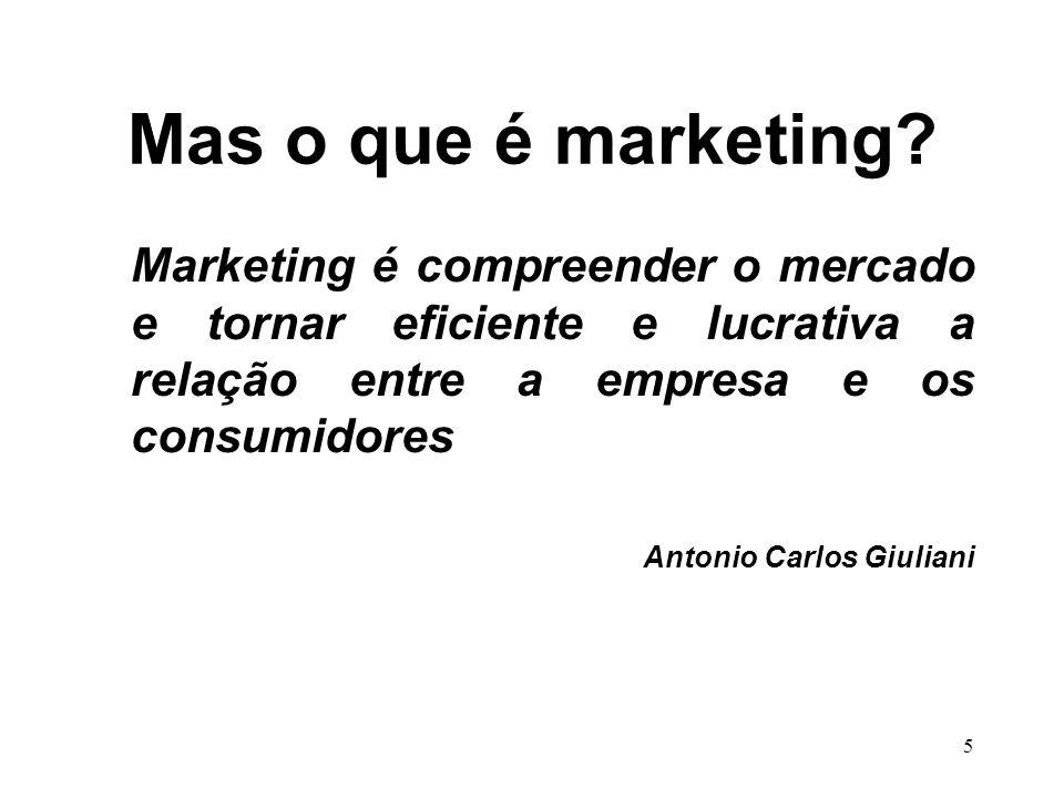 55 Para realizar: Marketing de Relacionamento Organização estabelece ligações a longo prazo com os clientes individuais para benefício mútuo