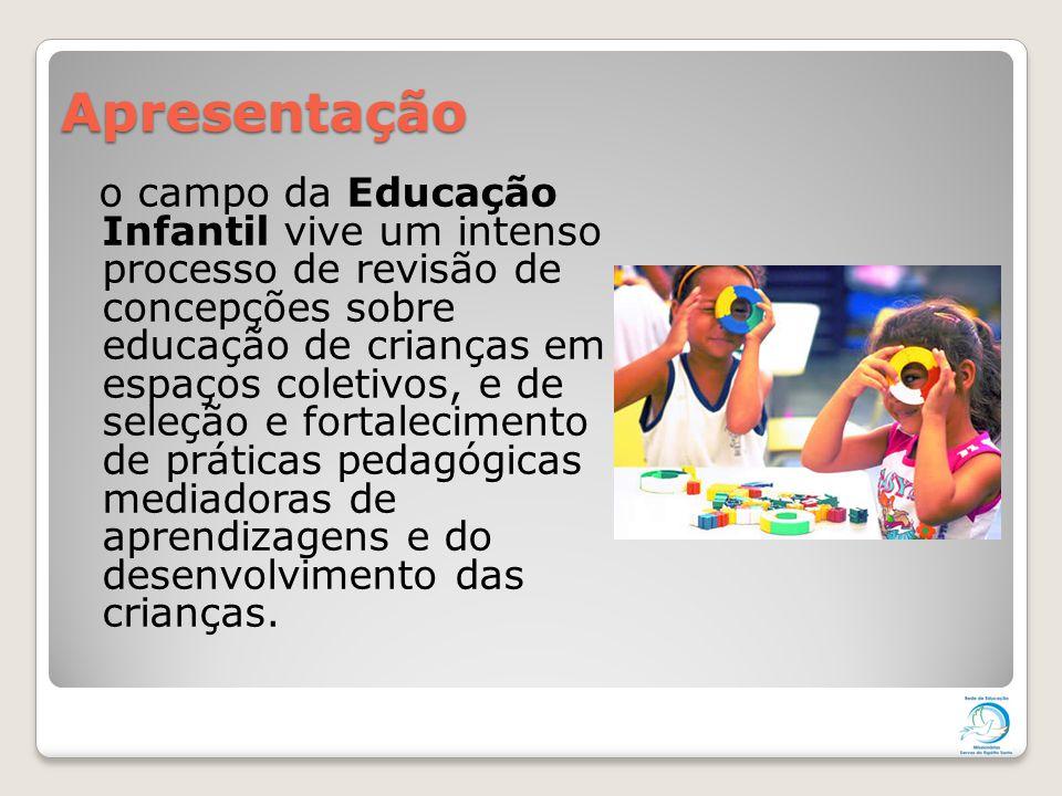 Apresentação o campo da Educação Infantil vive um intenso processo de revisão de concepções sobre educação de crianças em espaços coletivos, e de sele