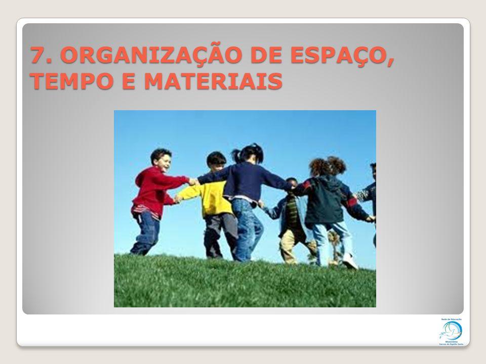 7. ORGANIZAÇÃO DE ESPAÇO, TEMPO E MATERIAIS
