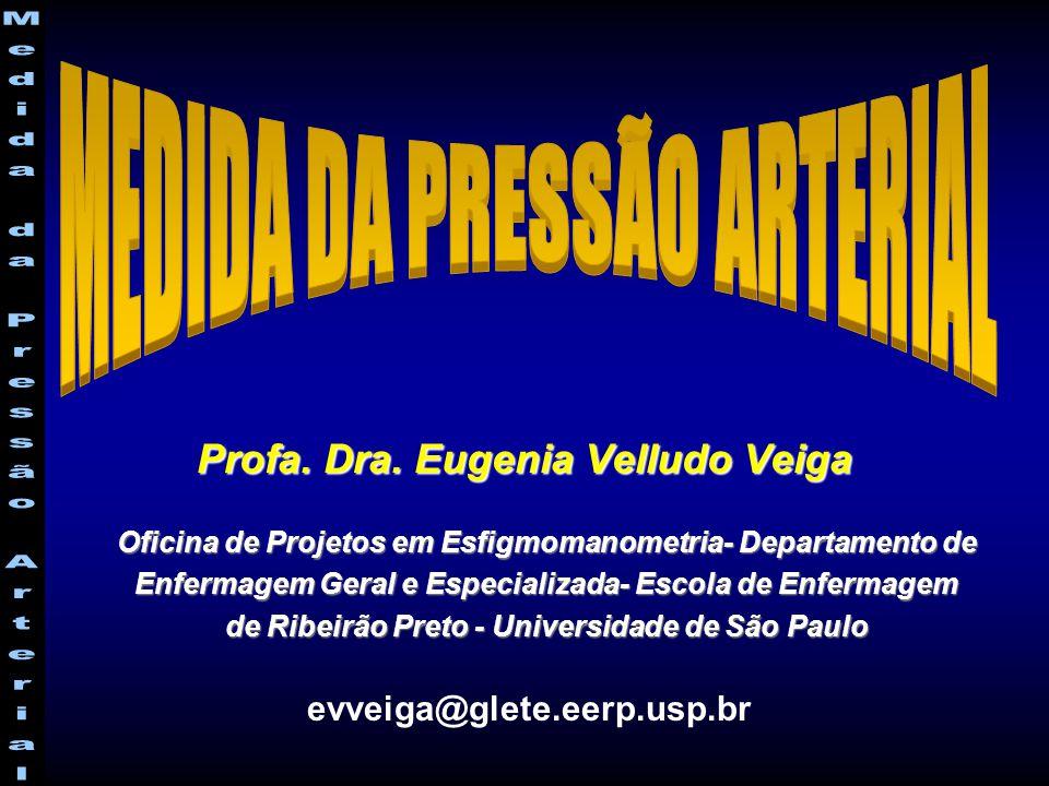 Profa. Dra. Eugenia Velludo Veiga evveiga@glete.eerp.usp.br Oficina de Projetos em Esfigmomanometria- Departamento de Enfermagem Geral e Especializada