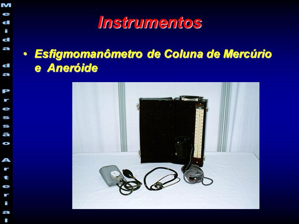 Instrumentos Esfigmomanômetro de Coluna de Mercúrio e AneróideEsfigmomanômetro de Coluna de Mercúrio e Aneróide