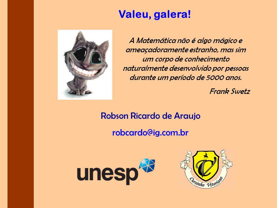 Robson Ricardo de Araujo robcardo@ig.com.br Valeu, galera.