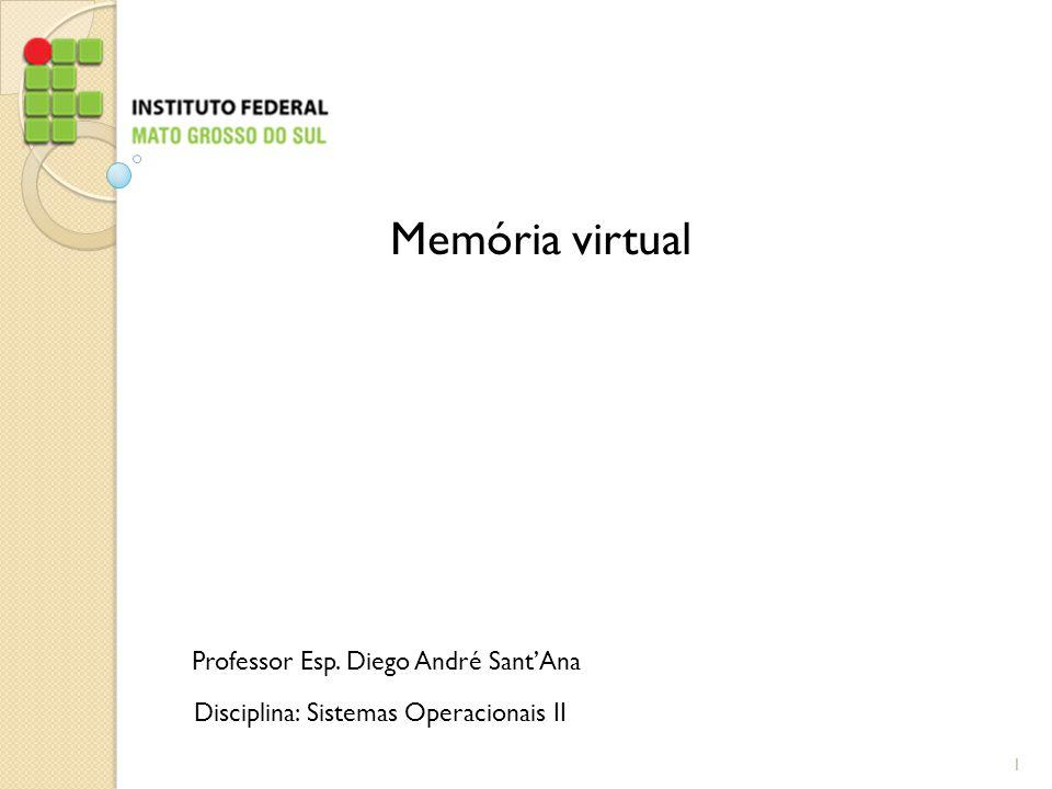Professor Esp. Diego André Sant'Ana Disciplina: Sistemas Operacionais II Memória virtual 1