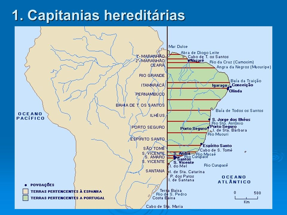 1. Capitanias hereditárias