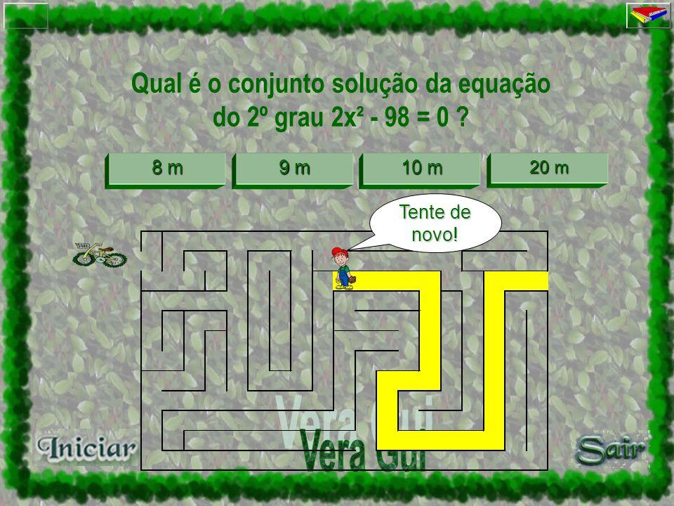 Qual é a medida do lado do quadrado, cuja área é 81 m² ? 8m 9 m 9 m 10 m 10 m 20 m 20 m