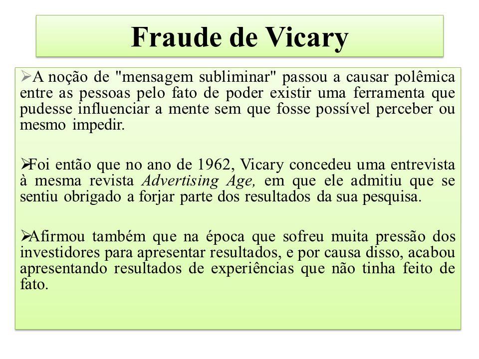 Fraude de Vicary  A noção de
