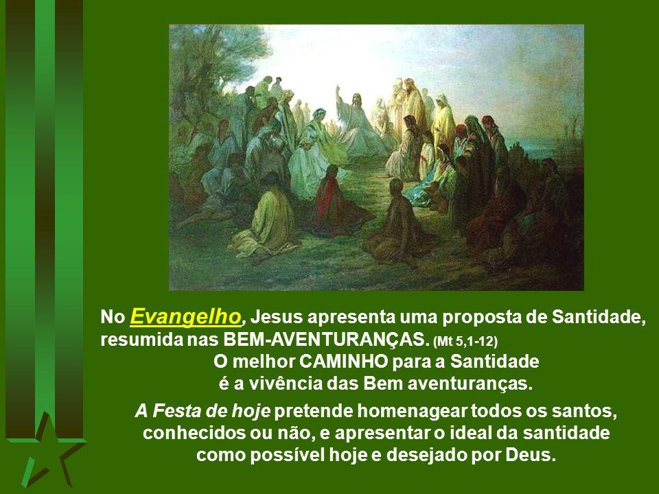 A 1ª Leitura afirma que uma grande multidão de pessoas, de todos os povos, são os santos que participam da glória celeste, junto de Deus. (Ap 7,2-4.9-