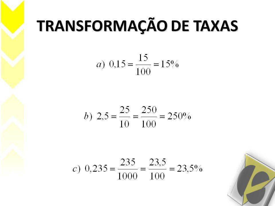 TRANSFORMAÇÃO DE TAXAS