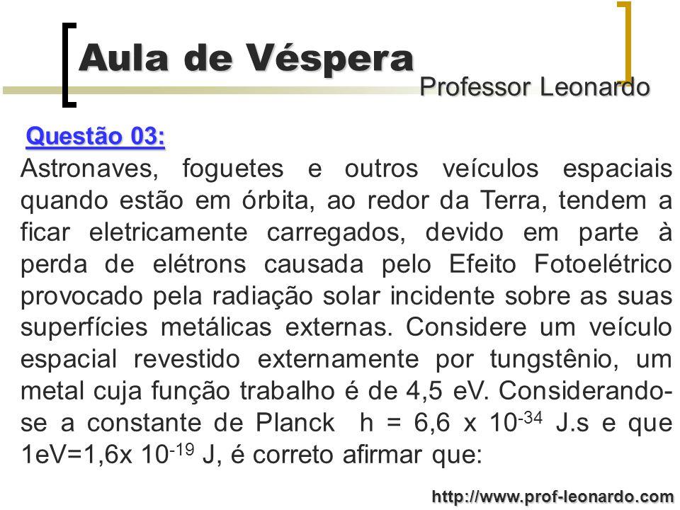 Professor Leonardo Aula de Véspera http://www.prof-leonardo.com (008) Se não houvesse atrito entre a pista e o corpo, este teria no ponto C uma velocidade com módulo maior que v 0.