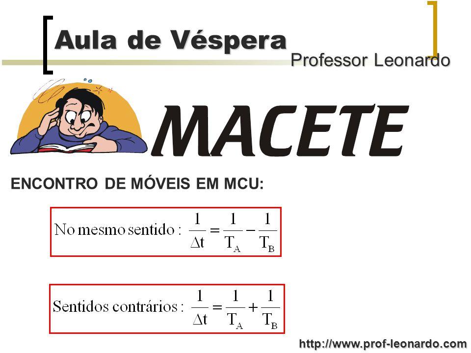 Professor Leonardo Aula de Véspera http://www.prof-leonardo.com 1º Passo: Para ocorrer o encontro: