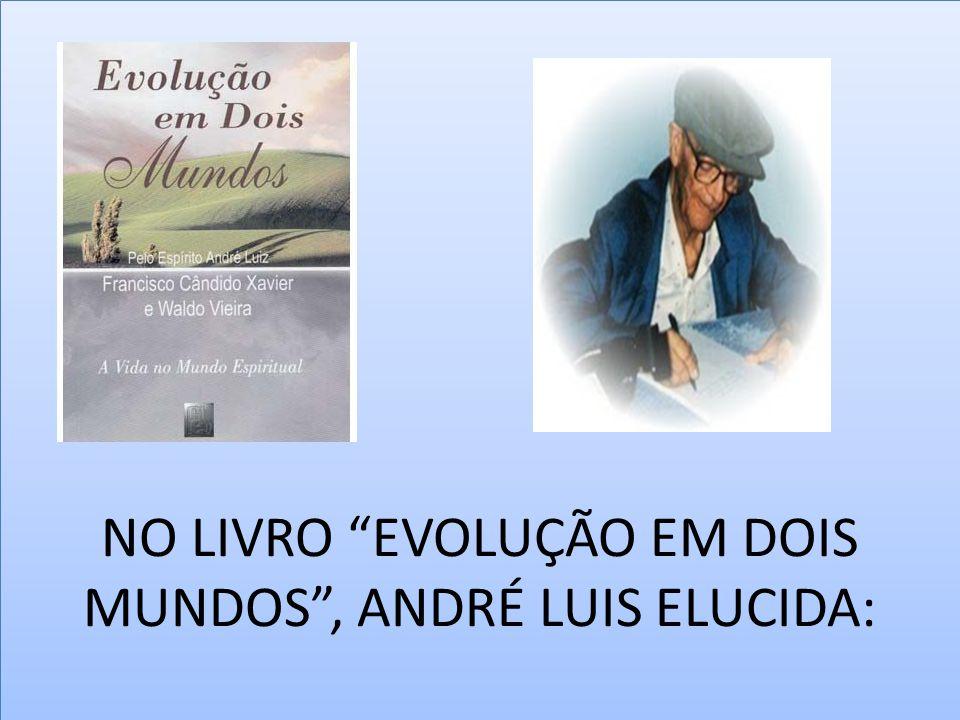 """NO LIVRO """"EVOLUÇÃO EM DOIS MUNDOS"""", ANDRÉ LUIS ELUCIDA:"""