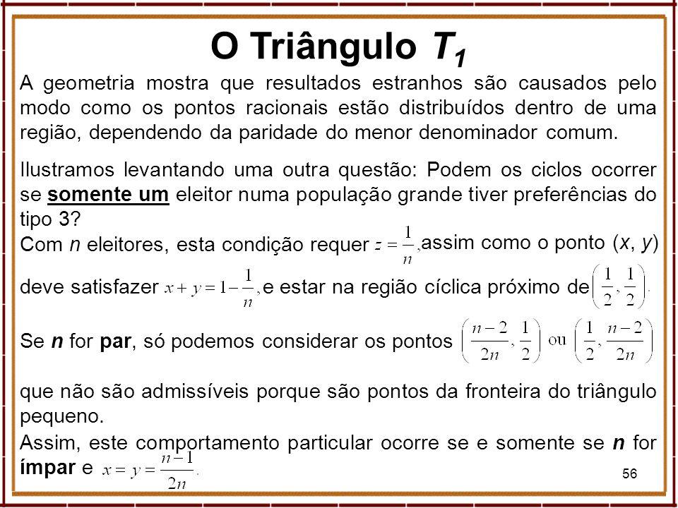 56 A geometria mostra que resultados estranhos são causados pelo modo como os pontos racionais estão distribuídos dentro de uma região, dependendo da