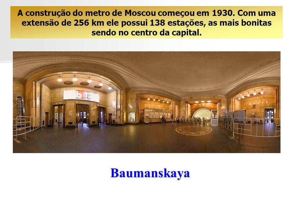 As Estações de Metro de Moscou O metro de Moscou merece uma visita particular.