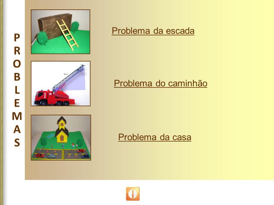 PROBLEMASPROBLEMAS Problema da escada Problema do caminhão Problema da casa