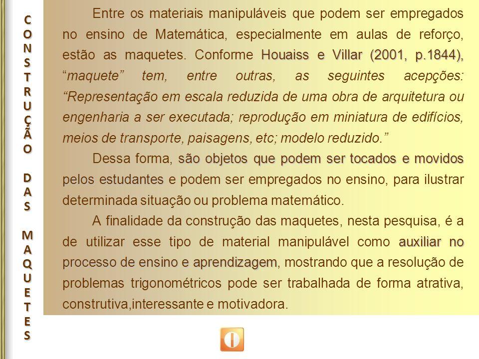 CONSTRUÇÃODASMAQUETESCONSTRUÇÃODASMAQUETESCONSTRUÇÃODASMAQUETESCONSTRUÇÃODASMAQUETES Houaiss e Villar (2001, p.1844), Entre os materiais manipuláveis