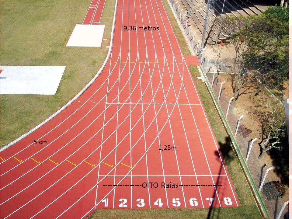 9,36 metros 1,25m 5 cm ----------------OITO Raias------------------