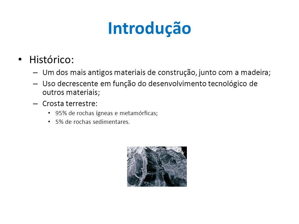 Introdução Histórico: – Um dos mais antigos materiais de construção, junto com a madeira; – Uso decrescente em função do desenvolvimento tecnológico d