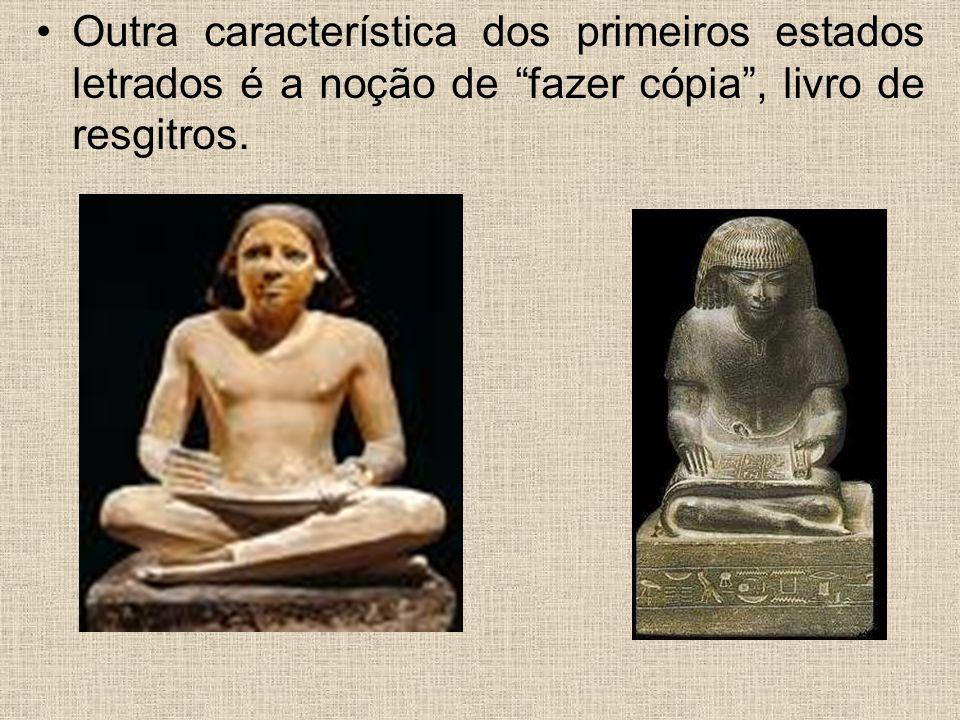Escrita e suporte Pedra; Argila; Metal; Fibras vegetais; Couro; Papel; Suportes óticos, etc.