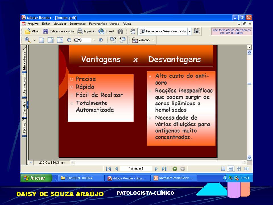 DAISY DE SOUZA ARAÚJO PATOLOGISTA-CLÍNICO