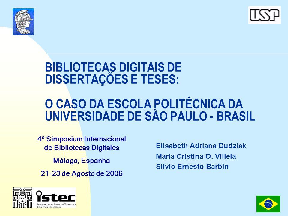 4º Simpósio Internacional de Bibliotecas Digitais 2006 12 Pós-Graduação no Brasil Evolução do número de Programas de Pós-Graduação 1987/2003 (CAPES, 2006)
