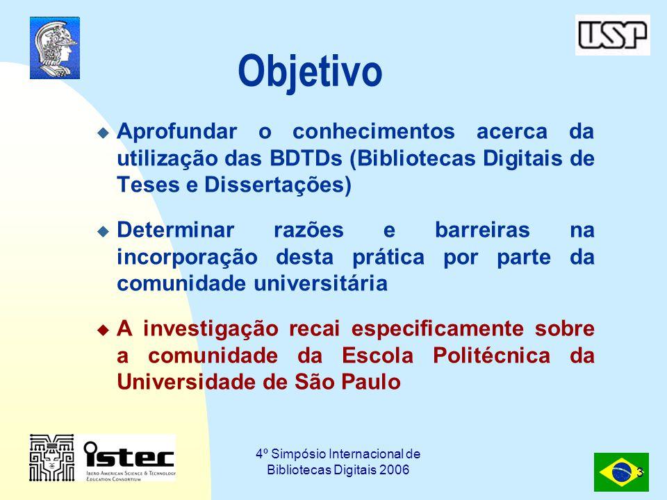 4º Simpósio Internacional de Bibliotecas Digitais 2006 4 Motivação Estudo anterior: Dudziak, Villela e Barbin, 2005  Verificou-se que alguns sites da Universidade de São Paulo (USP) eram poucos utilizados.