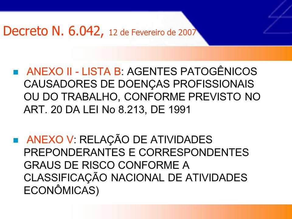 Decreto N.6.042, 12 de Fevereiro de 2007 Art.