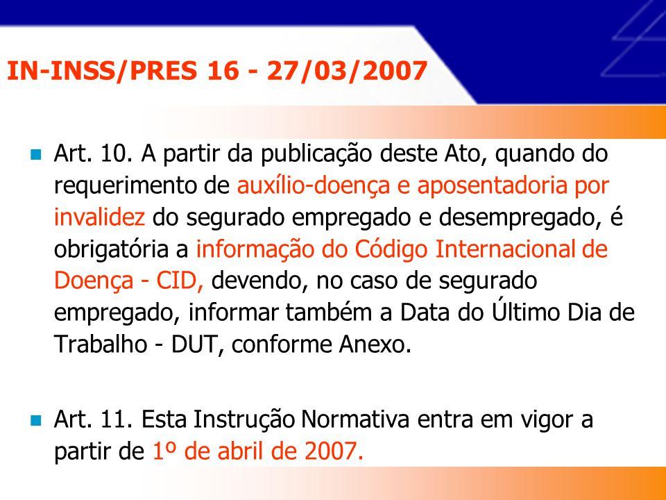 IN-INSS/PRES 16 - 27/03/2007 Art.