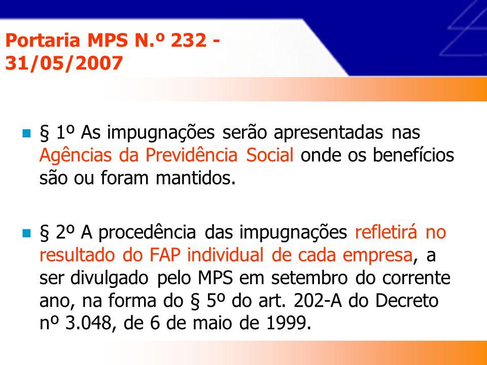 Portaria MPS N.º 232 - 31/05/2007 Art.