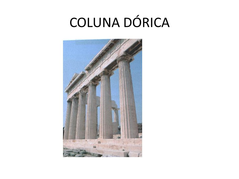 COLUNA DÓRICA