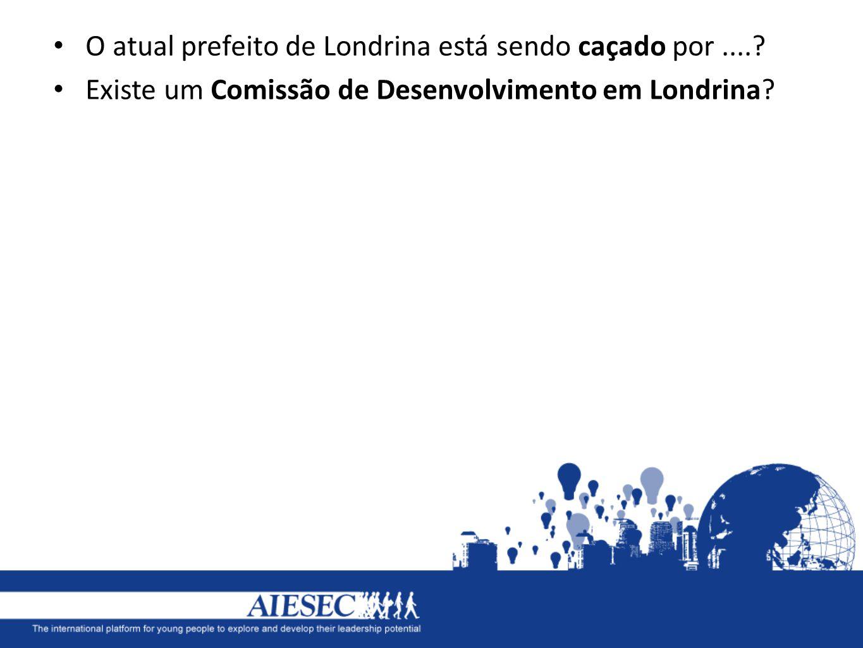 O atual prefeito de Londrina está sendo caçado por....? Existe um Comissão de Desenvolvimento em Londrina?