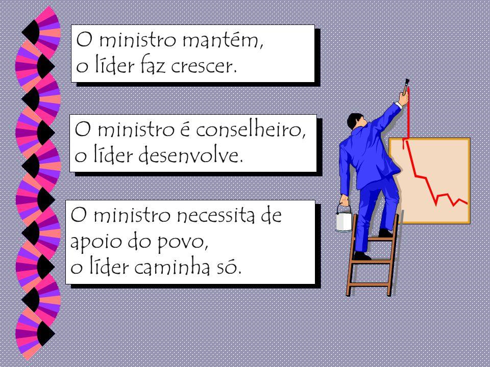 O ministro quer paz a qualquer custo, o líder quer mudanças, porque sem mudanças não há crescimento.