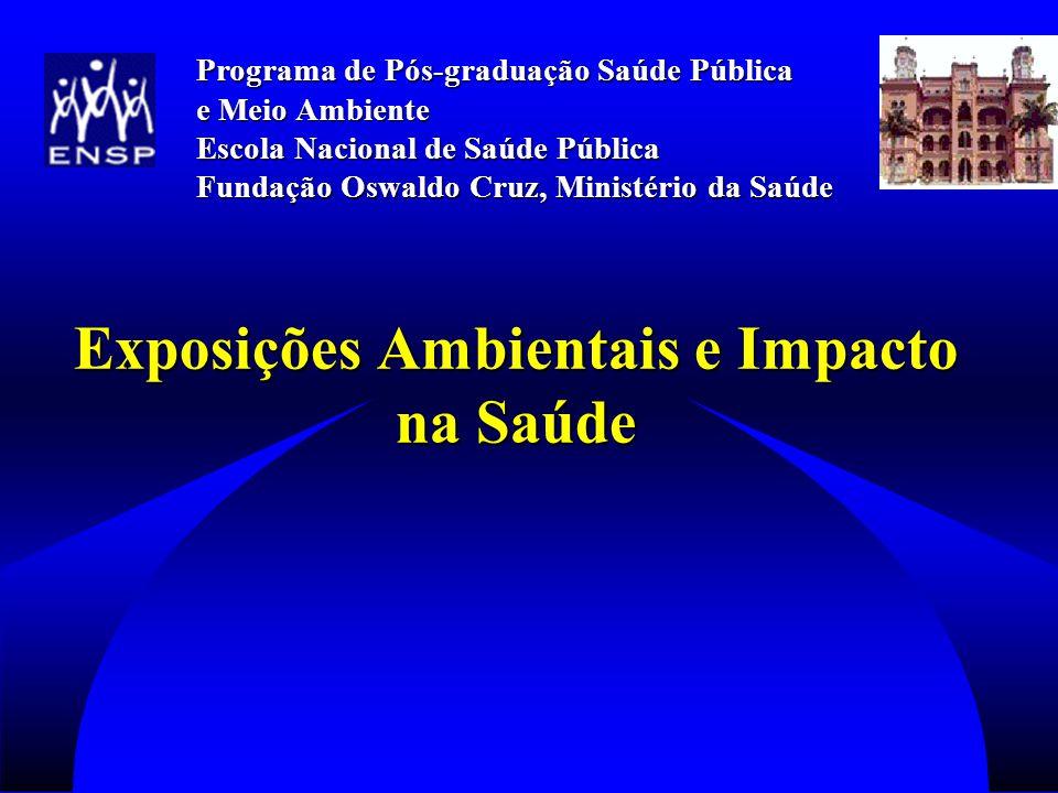 Exposições Ambientais e Impacto na Saúde Exposições Ambientais e Impacto na Saúde Programa de Pós-graduação Saúde Pública e Meio Ambiente Escola Nacional de Saúde Pública Fundação Oswaldo Cruz, Ministério da Saúde