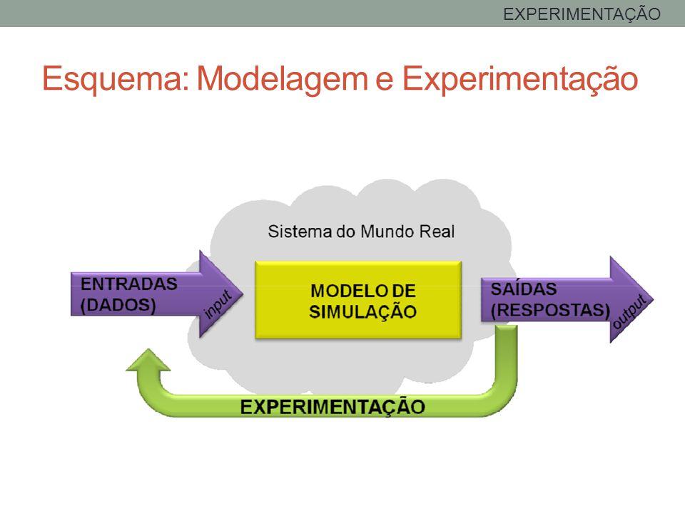 Esquema: Modelagem e Experimentação EXPERIMENTAÇÃO